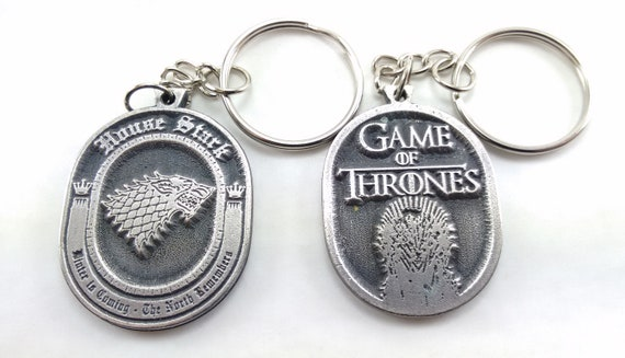 Game of Thrones House Stark Keychain Keyring Key double sided  808c44c150d8