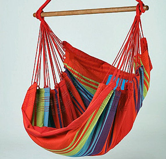 New Collection Fine Cotton Hammock Chair, Made in Brazil
