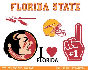 Florida State University football logo , Florida State Silhouette football ,FSU Cricut, Screen Printing, Florida  University football logo