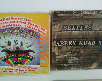 The Beatles Abbey Road and Magical Mystery Tour LP Records
