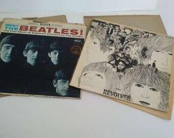 2 Sets of Beatles, Revolver and Meet The Beatles- First Album Vinyl LPs Records