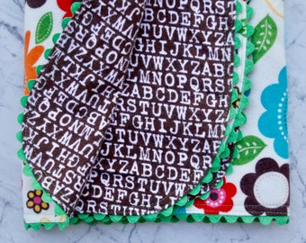 Best Swaddling Blanket - Baby Blanket - Flannel Blanket - Brown and Multy Colored