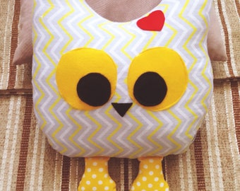 Owl Pillow, kids gift, baby gift, kids room, playroom pillows, nursery pillows