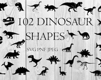 Dinosaur Clip Art for Cutting Machines Cricut Silhouette Digital Download  jpg png svg
