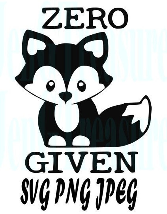 Funny Zero Fox Given Clip Art For Cutting Machines Cricut Etsy