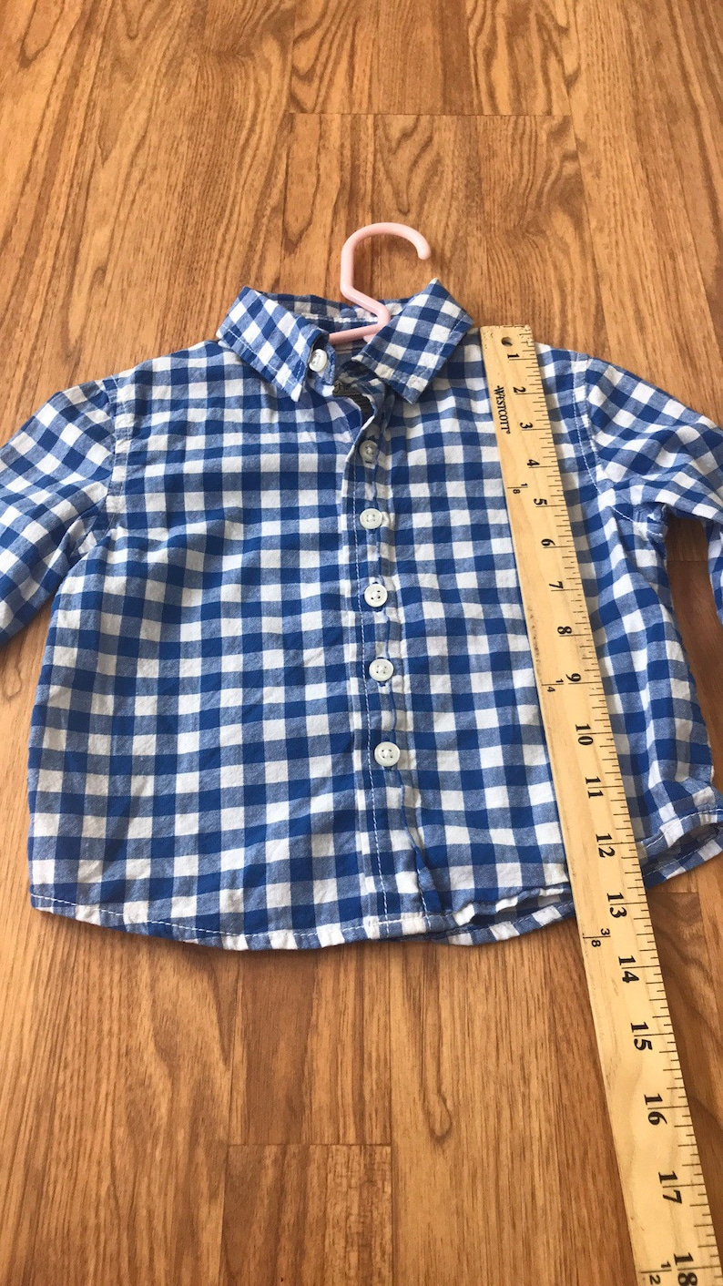 Good looks courtiesy of daddy upcycled shirt size 12 months by cherokee