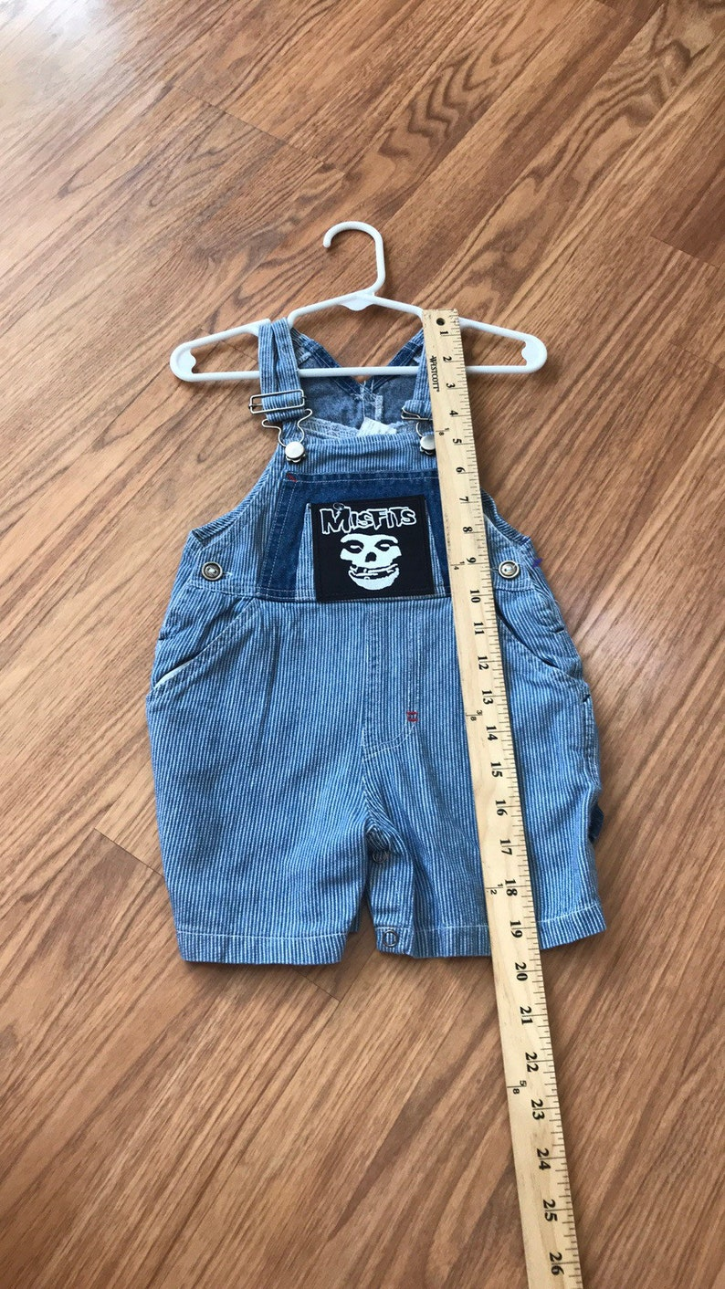 Misfits overalls striped lightweight size 12 months