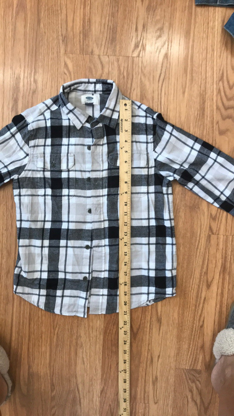 Happy Halloween skeleton upcycled flannel shirt by old navy size medium 8
