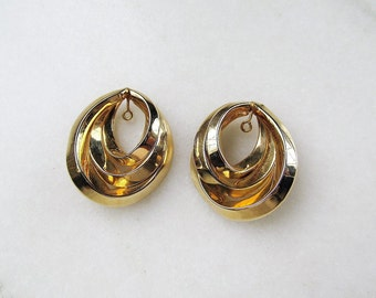 Vintage 14K Yellow Gold Earrings Enhancer Jacket Set ETC3445