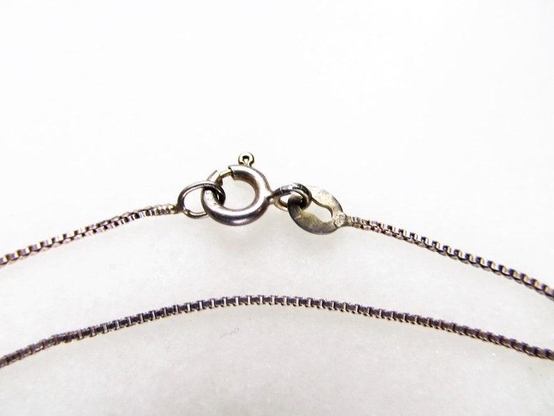 Vintage Sterling Silver Marcasite /& Black Glass Octagonal Pendant Necklace ETC4266