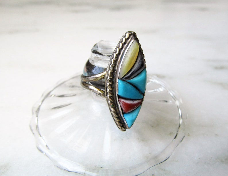 Estate Richard /& Geneva Terraza Zuni Inlay Ring