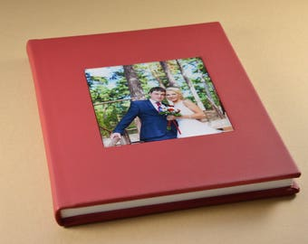 Personalized Wedding Albums/10X10 Acrylic Leather cover wedding album 20 pages - Florence
