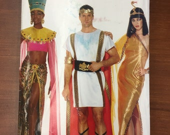 08a438757 Cleopatra Mark Anthony Egyptian Goddess Roman Halloween Costume Butterick  P447 3587 Size XS-xl Mens Womens Sewing Pattern UC FF Uncut Folded