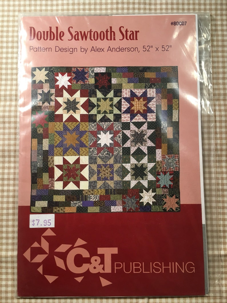 Double Sawtooth Star Quilt Quilting Pattern Alex Anderson 80007 C T Publishing Simply Stars 10143