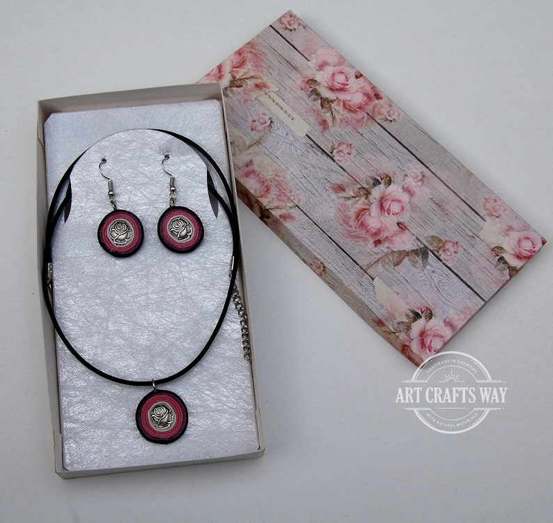 Unique Jewelry Set Mother/'s day Gift-Earrings and Necklace Set-Handmade Jewelry Set-Leather Earrings And Necklace-Woman Gift-Birthday Gift