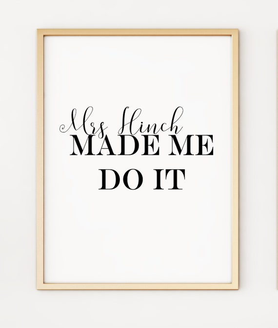 Made Me Do It All The Best Mrs Hinch Hanging Plaque Army Christmas Gift