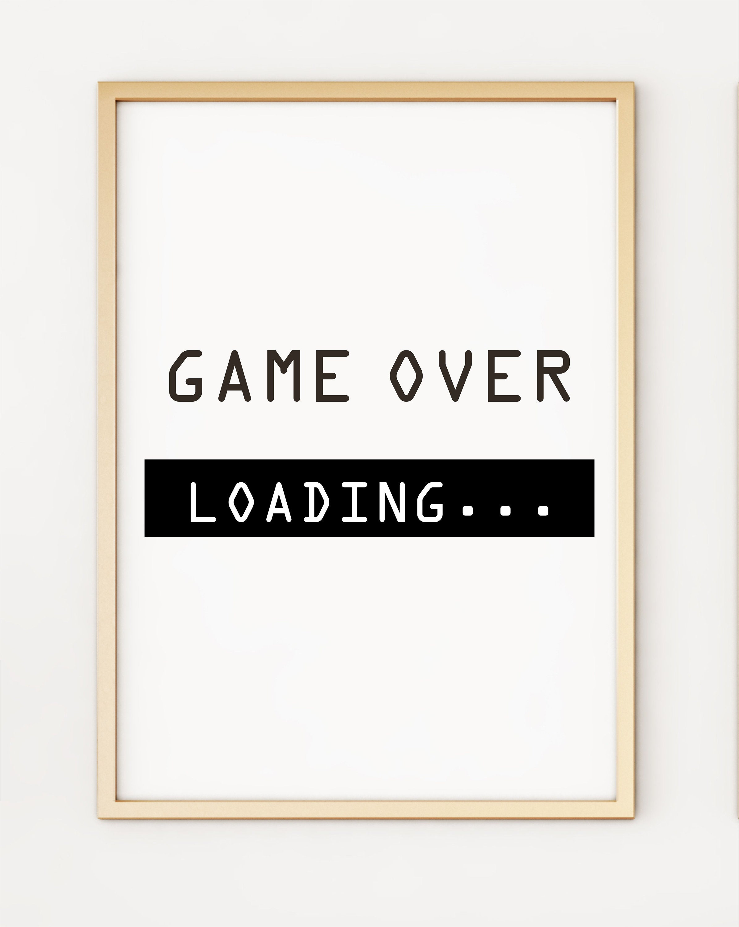 Funny Gaming A4 Poster Print PO192