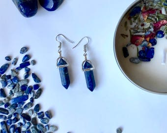 Lapis Lazuli Point Earrings