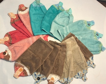 Crochet hand towels