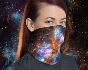 Headband Space Planets Solar System Astrology Magic Scarf Head Wrap Neck Gaiter