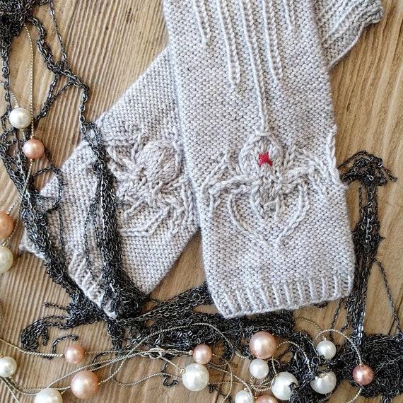 SILKEN SPIDER Fingerless Gloves Knitting Pattern Digital   Etsy