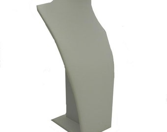 """White Faux Leather Neck Form 7 1/2""""H Various Sizes"""