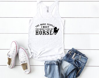 Horse Lover Racerback Tank, Horse Lover Gift, Horse Tank Top, Funny Horse Tanks, Equestrian Gifts, Horse Owner Gifts, Sassy Gift