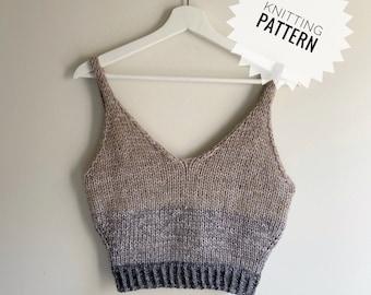 Knitting Pattern | Serendipity Crop Top | Digital Download