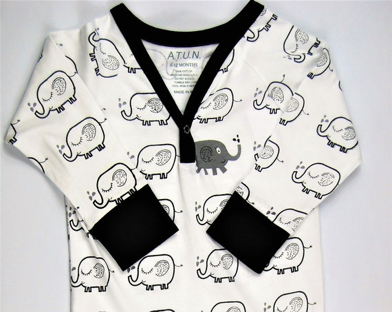 2T-3T Month Elephant G Tube Playsuit Romper, Adapted to Order