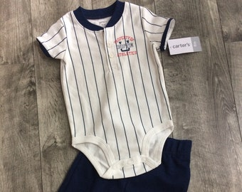 G-Tube Baseball Bodysuit with Pants, Adapted to Order