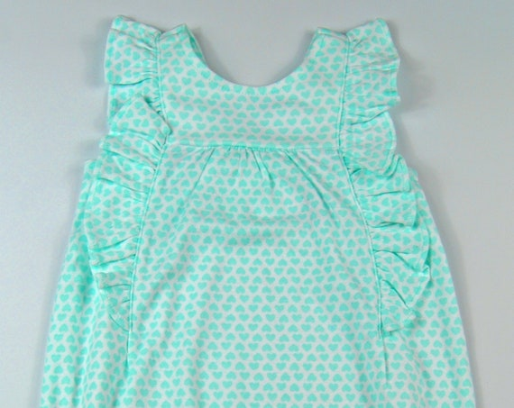 Heart G Tube Playsuit/Romper/Bubble, Adapted to Order