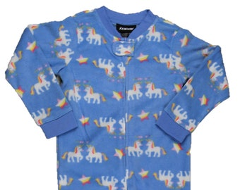 3T Unicorn Fleece Footed Sleeper