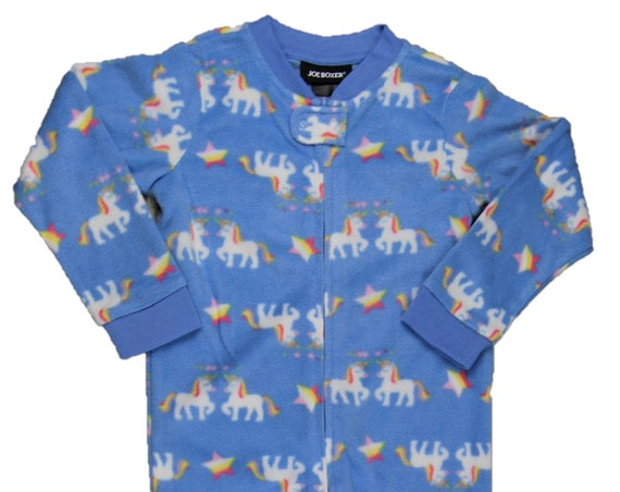 3T Unicorn Fleece Footed Sleeper
