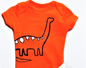 Size 3 Months Dinosaur G Tube Bodysuit and Pants, Made to Order