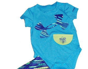 Under Armour G Tube Bodysuit with Shorts Size 3-6 Months NEW