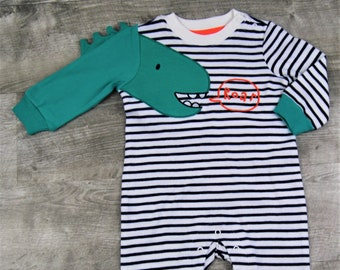 Dinosaur Playsuit/Romper, Adapted to Order