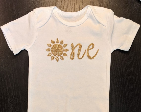 "First Birthday ""One"" G Tube Bodysuit, Adapted to Order"