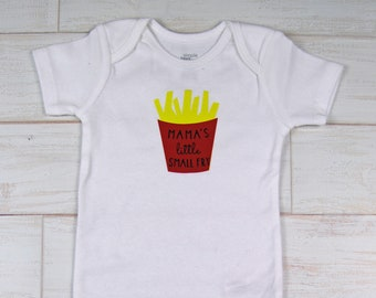 "G Tube Bodysuit ""Mommy's Little Small Fry"" , Adapted to Order"