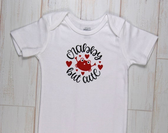 "G Tube Bodysuit ""Crabby but Cute"" , Made to Order"