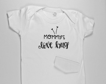 "G Tube Bodysuit ""Mommy's Love Bug"" , Adapted to Order"