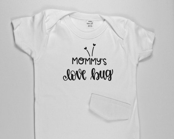 """G Tube Bodysuit """"Mommy's Love Bug"""" , Adapted to Order"""