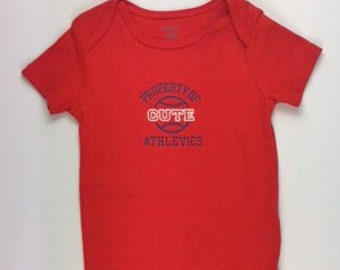 Property of Cute Athletics G Tube Bodsyuit, Size 18 Months, Adapted to Order