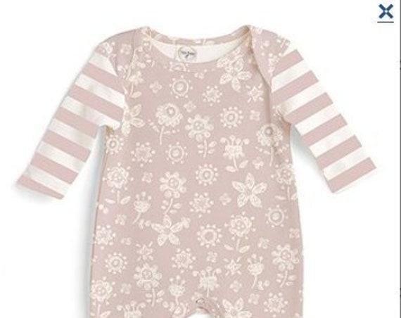 Pink & White Flowers G Tube Playsuit Romper Outfit Adapted to Order