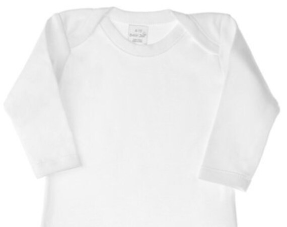 Infant & Toddler Sizes, Long Sleeve G Tube Bodysuit, Adapted to Order