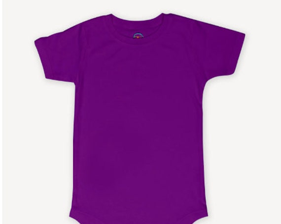 Purple  G Tube Bodysuit, Adapted to Order