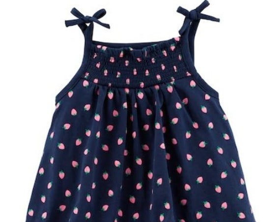 Strawberry Double Layer G Tube Bodysuit/Sundress, Adapted to Order
