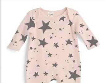Pink Star G Tube Romper Playsuit, Adapted to Order