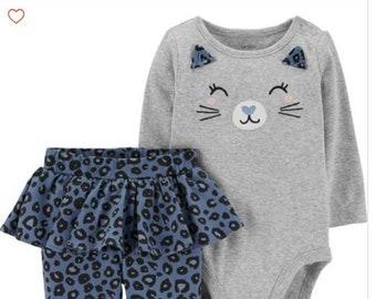 Cat G-Tube Bodysuit & Skirted Pants, Adapted to Order