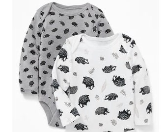 Hedgehog G Tube Bodysuits, Made to Order 3-6 Month