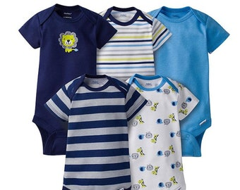 5 Pack of G Tube Bodysuits, Made to Order 6-9 Month